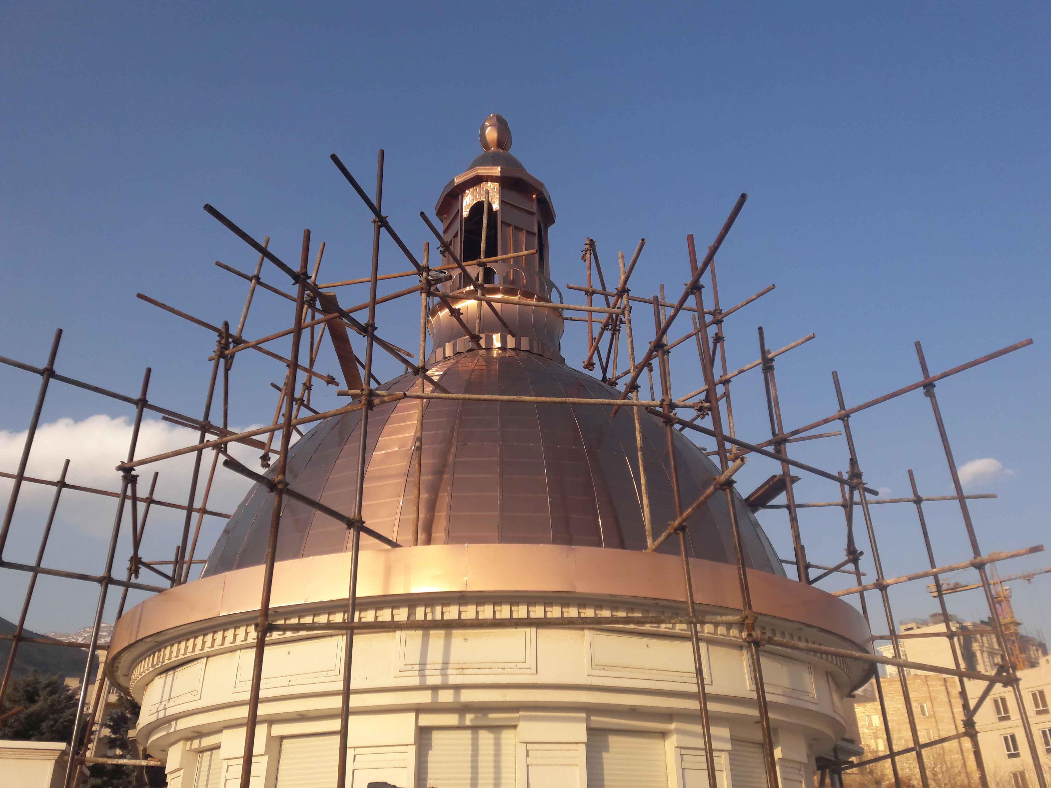 پروژه ساخت گنبد ساختمانی نیاوران