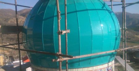 ساخت گنبد در یاسوج